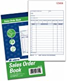 Adams Sales Order Books, 2-Part, Carbonless, White/Canary, 4-3/16 x 7-3/16 Inches, 50 Sets per Book, 3 Books (DC4705-3)
