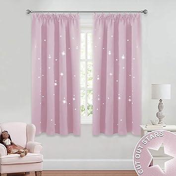 PONY DANCE Sterne Vorhang für Kinder - Babyrosa Vorhang mit ...