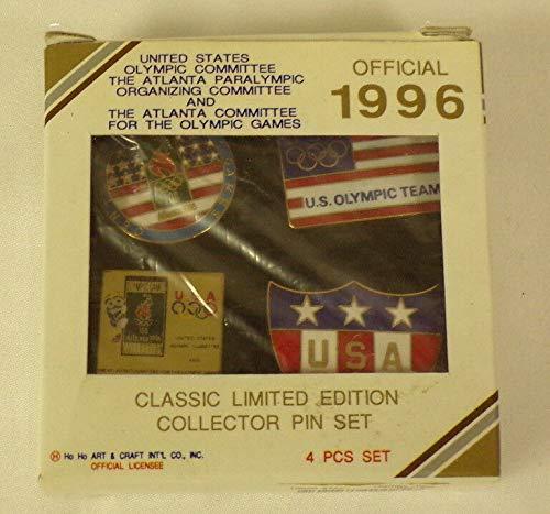(2) Original Vintage Sealed 1996 Atlanta USA Olympics Pin Sets - 8 Pins in All
