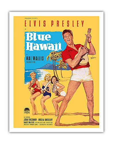 Elvis Presley in Blue Hawaii - Vintage Film Movie Poster by