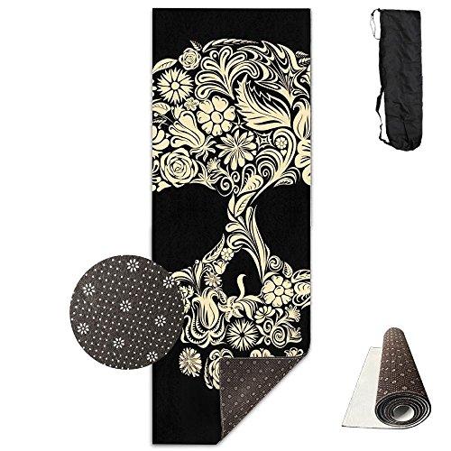Gorgeously Non Slip Yoga Mat Skull Art Premium