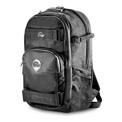 Skunk Nomad Skaters Backpack - Smell Proof - Water Proof - With Combination Lock (Black)