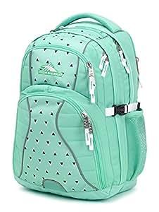 High Sierra Swerve Laptop Backpack, Aquamarine/Tri Geo/White