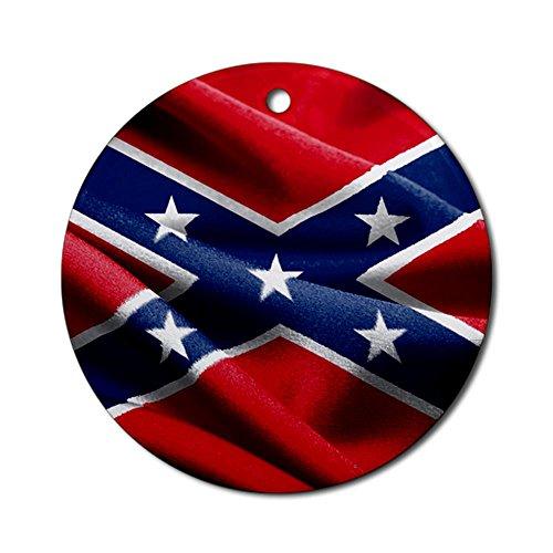 Ornament (Round) Resplendent Confederate Rebel Flag