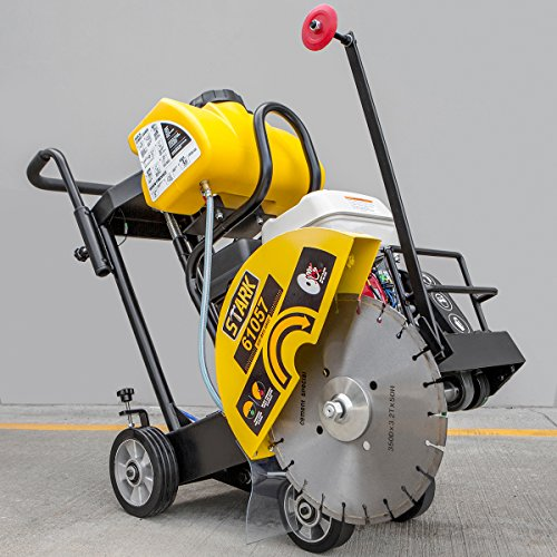 Gas Floor Concrete Cut-Off Saw w/ Blade, 14' Walk Behind 5.5 Hp, Powered By Honda Engine