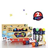 WASHABLE, NON TOXIC Dab and Dot Markers for Kids Art Activities Set of 8 Paint Art Daubers (2 Packs)