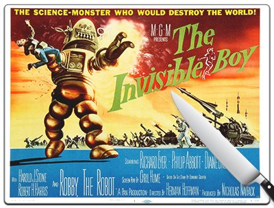 Movie Poster 78 - The Invisible Boy Standard Cutting Board by Kitchen accents