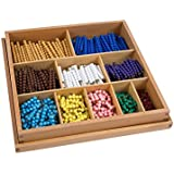 Montessori Math Materials Bead Decanomial with box for Early Preschool Learning Toy