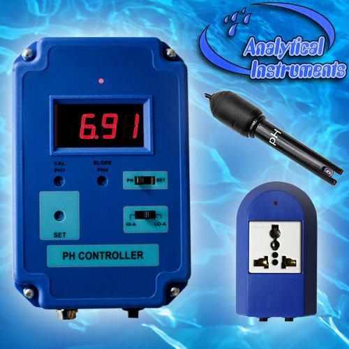 PH-Controller PH-Regler CO2-Wert Aquarium Koi Süß- und Salzwasser Mini-PH-Elektrode P18