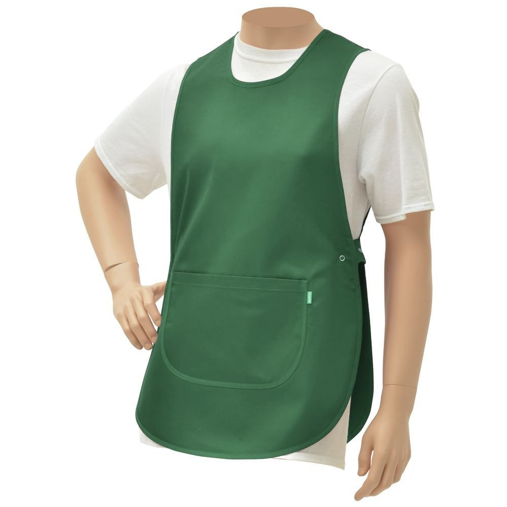 "HUBERT Green Poly Cotton Cobbler Apron - 30""L x 19""W"