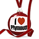 Christmas Decoration I Love Plymouth region: South West England, England Ornament
