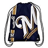 MLB Milwaukee Brewersbig Logo Drawstring Backpack, Milwaukee Brewers, One Size