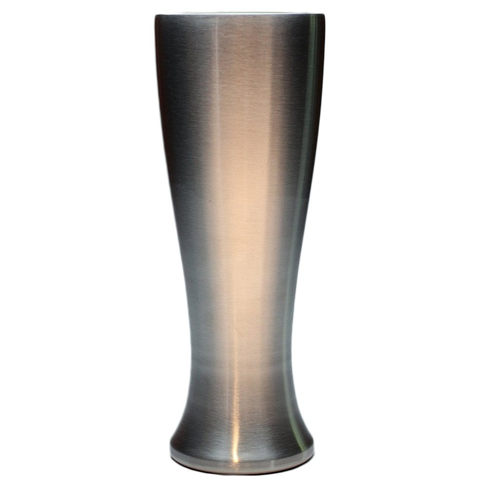 Mason Forge Stainless Steel Double Wall Vacuum Insulated 14 Ounce Pilsner Style Beer Tumbler   Sweat Free Double Wall Vacuum Insulated Beer Tumbler   Perfect for COLD or HOT beverages (Single Tumbler)