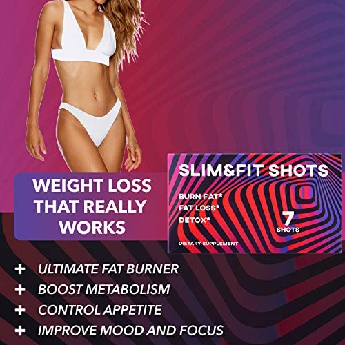 Slim&Fit Shots - The Only Working Weight Loss Pills for Women - Appetite Suppressant, Fat Burner and Metabolism Booster with L-Arginine, Garcinia Cambogia and Guarana - 9 Weeks Supply 7