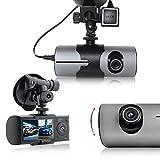 Indigi XR300 Dashboard Cam DVR Recorder - 2.7'' LCD + Dual Lens(Front+Back) + GPS Module + Motion Recording