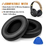 Beats Studio Replacement Ear Pads by Haino- Extreme Comfort Beats Cushions Replacement kit Noise Isolation Adaptive Memory Foam Ear Cover for Beats Studio 2.0 & 3.0 Wired/Wireless B0500 / B0501