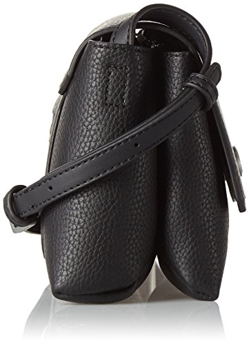 Calvin Klein Carrie bolso bandolera piel 22 cm Negro (Black)