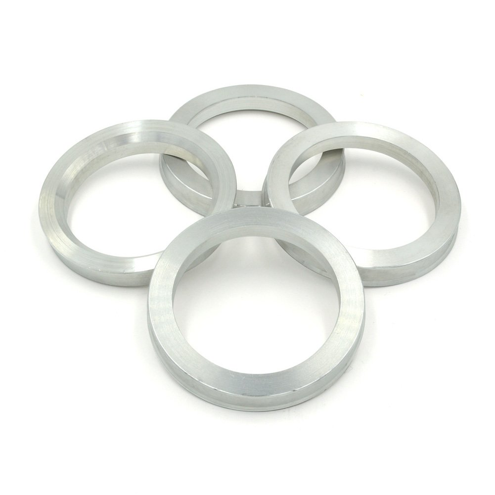 GoldenSunny 73.1mm OD to 56.1mm ID Hub Centric Rings, Silver Aluminum Hubcentric Rings for Many Honda/Kia/Mini, Pack of 4