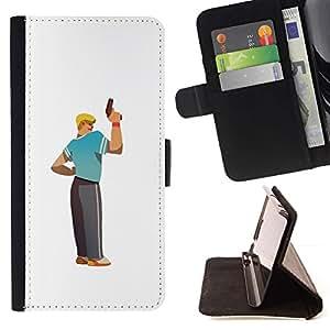Momo Phone Case / Flip Funda de Cuero Case Cover - Arte arma Hombre Rubio carácter deportivo Tío Chico - Apple Iphone 6