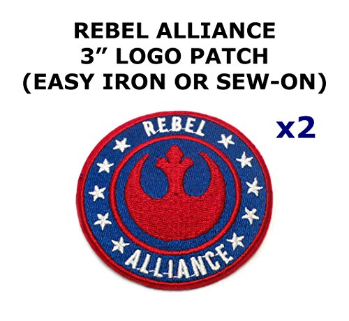 2 Pcs Rebel Alliance Star Wars Theme Diy Iron   Sew On Decorative Applique Patches