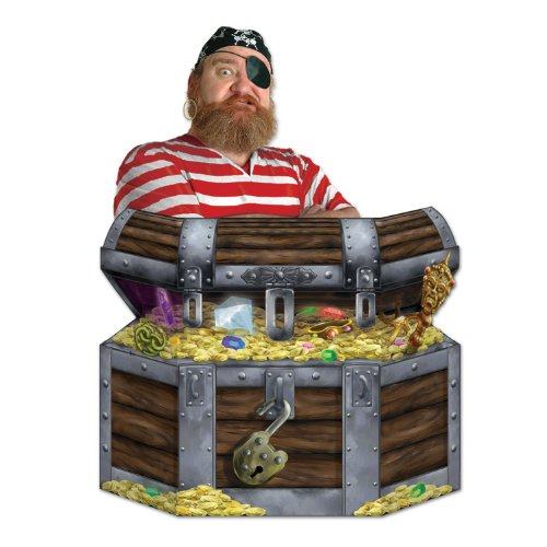 Treasure Chest Stand-Up Party Accessory (1 count) (1/Pkg)