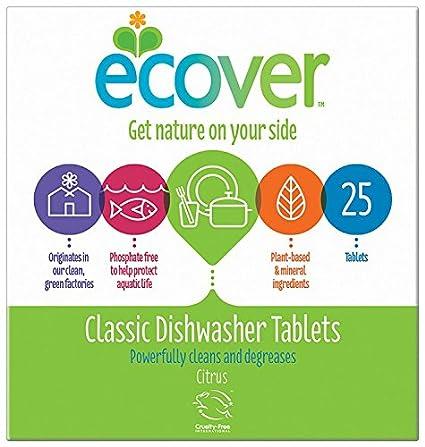Ecover KEVDT - Tabletas para lavavajillas (25 unidades): Amazon.es ...