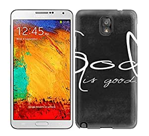 Slim Fit Tpu Protector Shock Absorbent Bumper God Is Good Art Case For Galaxy Note 3