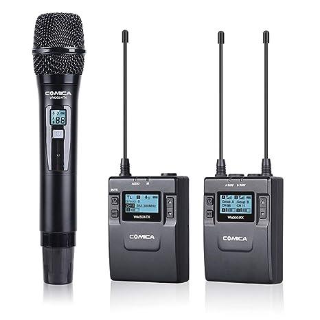 AKDSteel COMICA WM300B - Micrófono inalámbrico de Metal para ...
