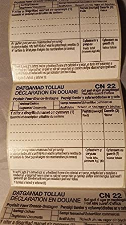 Royal Mail X 250 Customs Declaration Label Roll For International