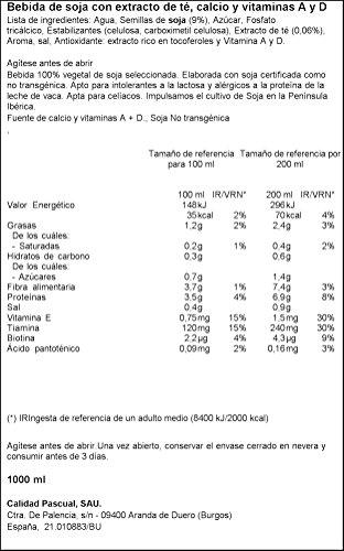 Vivesoy Soja y Té Negro Bebida 100 % Vegetal de Soja Seleccionada ...