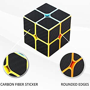 Novelty Amazing Cube Littleice 2x2x2 Speed Cube Carbon Fiber Sticker for Smooth Magic Cube Puzzles