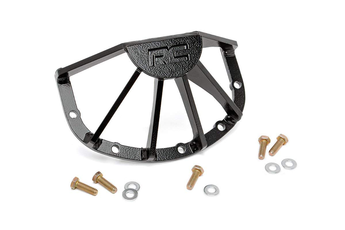 Rough Country - 1035 - RC Armor Front Dana 30 Differential Guard for Jeep: 84-01 Cherokee XJ 4WD, 76-86 CJ7 4WD, 81-85 CJ8 Scrambler 4WD, 86-92 Comanche MJ 4WD, 99-04 Grand Cherokee WJ 4WD, 93-98 G. by Rough Country