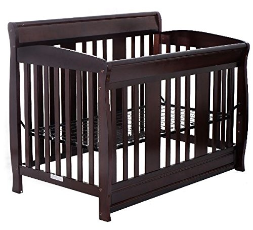 K&A Company Bed Wood Pine Baby Toddler Convertible Crib Nursery Furniture Daybed Solid Safety Kid Coffee