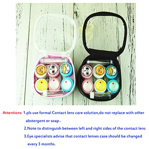 Contact Lens Case with Mirror Contact Lens Case Travel Kit Cute Contact Lense Case Cute Contact Lens Case 3 Pack by Sunflower Innovative Store (Image #3)