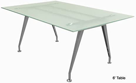 Exceptionnel Frosted Glass Conference Tables   6u0027