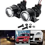 55W H3 Universal Fog Light Halogen Bulb Lamp Car Auto Lens 2 Pcs