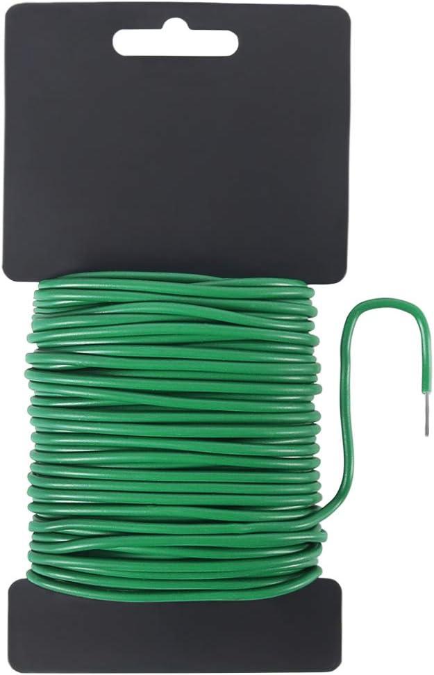 Shintop Reusable Garden Plant Twist Tie, Heavy Duty Soft Wire Tie for Gardening, Home, Office (Green, 65.6feet)