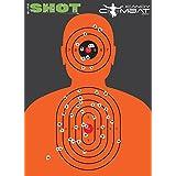 Orange Silhouette Splatter Quality Targets - Fun Color Reactive Target For Shooting