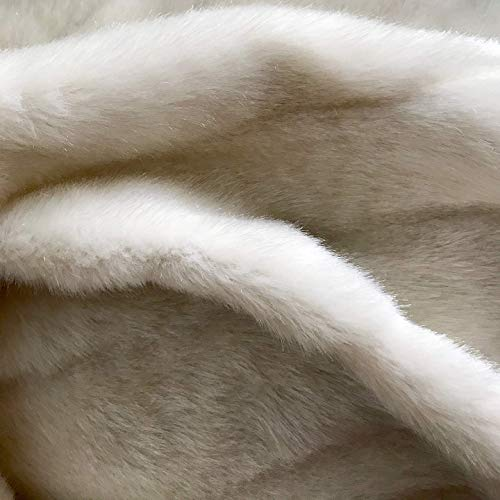 - Plankroad Home Décor Ivory Faux Fur Upholstery Fabric