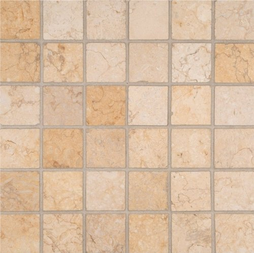 MS International 2 in x 2 in Luxor Gold Limestone Mosaic Floor Wall Tile - Box of 5 sqf