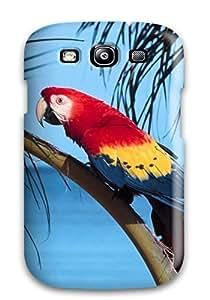 Hot 1754808K83959446 Perfect Tpu Case For Galaxy S3/ Anti-scratch Protector Case (parrot Beach)