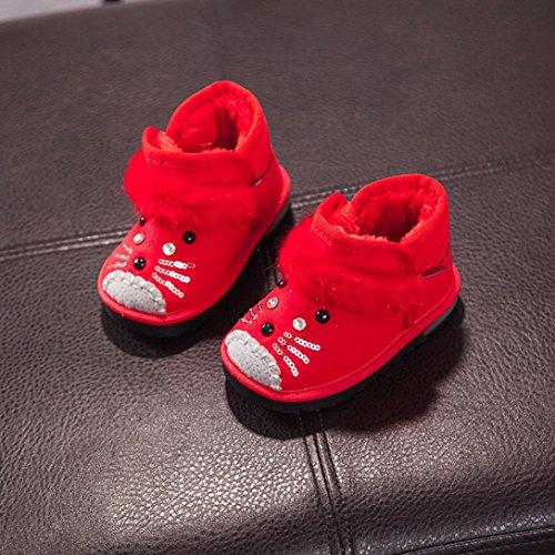 TPulling Mode Junge Und Mädchen Lässige Schuhe Herbst Und Winter Männliche Und Weibliche Schnee Skid Cartoon Stiefel Lässige Schuhe Rot