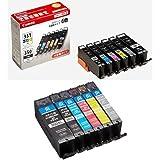 Canon インク カートリッジ 純正 BCI-351XL(BK/C/M/Y/GY)+BCI-350XL 6色マルチパック 大容量タイプ BCI-351XL+350XL/6MP + リサイクルインクカートリッジ6色セット