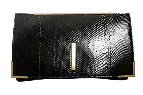 Raoul Women's Python Skin Leather Clutch Handbag Bag