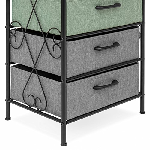 Best Choice Products 8-Drawer Metal Tower Storage Cabinet (Multicolor) by Best Choice Products (Image #4)