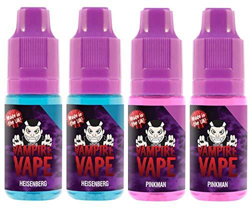 Vampire Vape E-Liquid 4x10ml für E-Zigarette – Heisenberg, Pinkman – 0mg (ohne Nikotin)