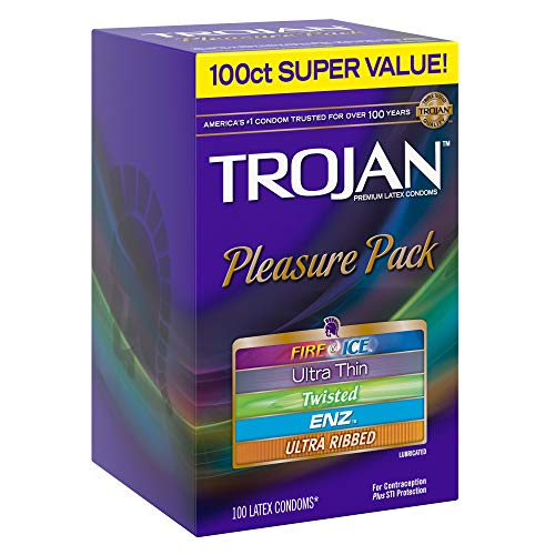 Trojan-Super-Value-Pleasure-Pack-Lubricated-Condoms