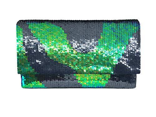 Mano A Ricamata Green Faradiba Wave Pochette vAwxqX6XYg