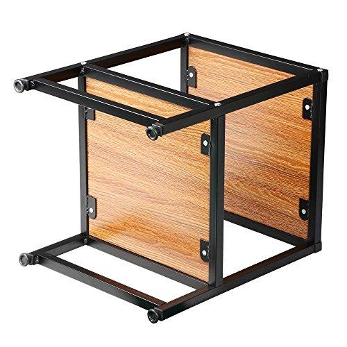 "Coffee Table 3 Layers Black Square Metal Legs: Yaheetech 2 Tier 15"" Square Wood Coffee Table Metal Legs"
