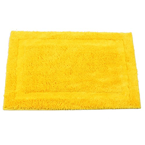 SHACOS Super Soft Bathroom Rugs Mats Polyester Microfiber Doormat Entrance Rug Floor Mats Bedroom/Kitchen/Living Room/Dorm Room (20''×32'', Yellow) by SHACOS